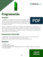 Programación - Ficha técnica
