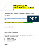 The World of Psychology 8th Canadian Edition by Samuel E. Wood – Test Bank