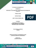 EVIDENCIA 6; PROPUESTA PLAN ESTRATEGICO LOGISTICO