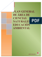 PLAN GENERAL DE ÁREA DE CIENCIAS NATURALES Y EDUCACIÓN AMBIENTAL 2017