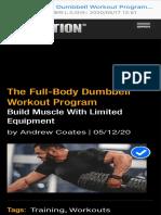 The Full-Body Dumbbell Workout Program