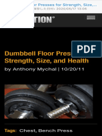 dumbbell floor presses for strength, size, and health  t nation