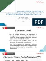 Tema 6 Primeros Auxilios Psicológicos frente al estado de emergencia por COVID-19