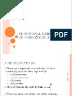 Topic 10 Acid Derivatives