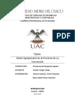 SECTOR AGROPECUARIO DE LA CONVENCION