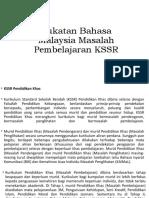 Sukatan Bahasa Malaysia Masalah Pembelajaran KSSR.pptx