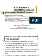 Information Service Providers Guidelines