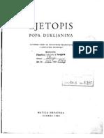 Ljetopis Popa Dukljanina MH, Zagreb, 1950.