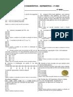 AVALIAÇÃO DIAGNÓSTICA MATEMÁTICA (1)