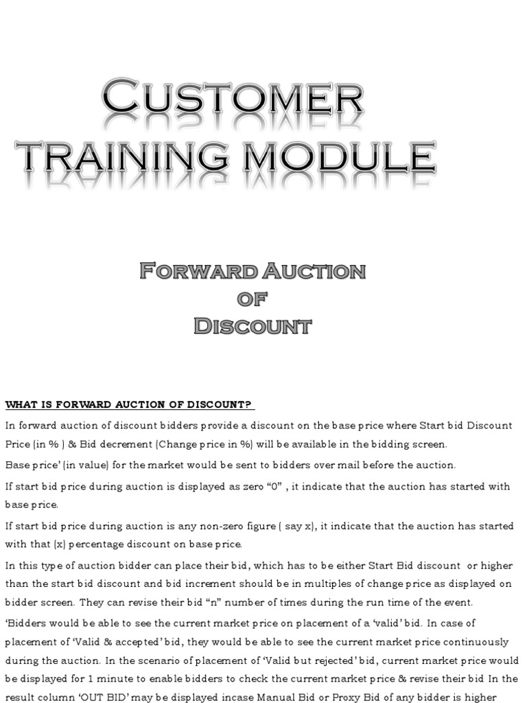 Forward Auction Of Discount Ppt Auction Business