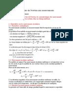 Chap 4 Application des lois de Newton aux mouvements circulaires uniformes