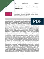 «Marier formes urbaines et mixité», par Jacques LUCAN