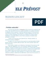 Abatele Prevost - Manon Lescaut 1.0 10 '{Dragoste}