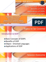 LECTURE 2 - Basic Concepts of OOPs - Benefits of OOPS - Applications of OOPS