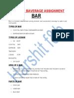 Harshit F&B bar