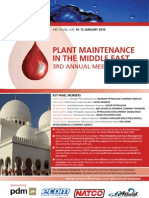 [Printed] (10-13 Jan 2011) Plant Maintenance in the Middle East 3rd Annual Meeting