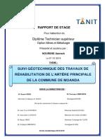 SUIVI GÉOTECHNIQUE DES TRAVAUX DE RÉHABILITATION DE L'ARTЀRE PRINCIPALE DE LA COMMUNE DE MOANDApdf