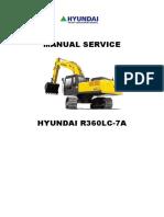 MANUAL SERVICE HYUNDAI R360LC-7A - INGLÊS