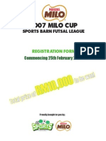 Milo Cup Entry Form Full