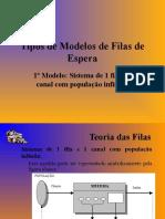 Aula II - Tipos de Modelos de Filas