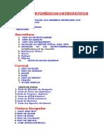 Avaliação OSTEOPATIA TESTES ORTOPÉDICOS