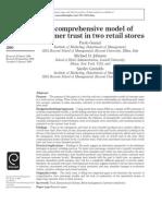 Consumer Trust in Retail