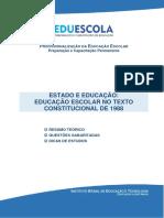 EDUCAÇÃO E CONSTITUIÇÃO FEDERAL DE 1988 - EDUESCOLA