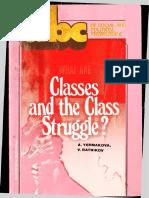 What Are Classes and the Class Struggle - Antonina Yermakova, Valentin Ratnikov 1986.pdf