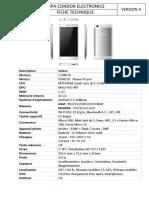 fiche technique PGN518 Plume P6 pro
