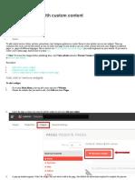 Edit website
