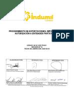 PROCEDIMIENTO DE EXPORTACIONES, IMPORTACIONES Y AUTORIZACIÓN A ENTIDADES PARTICULARES.docx