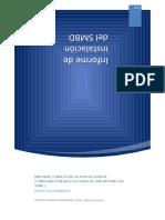 Informe Plan de Instalacion de Base de datos San Antonio del Sena