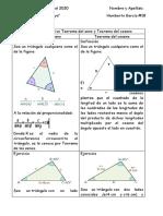 Cuadro Comparativo Teorema del seno yTeorema del coseno