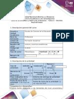 Guía de actividades y rúbrica de evaluación - Tarea 5 - Versión final del texto