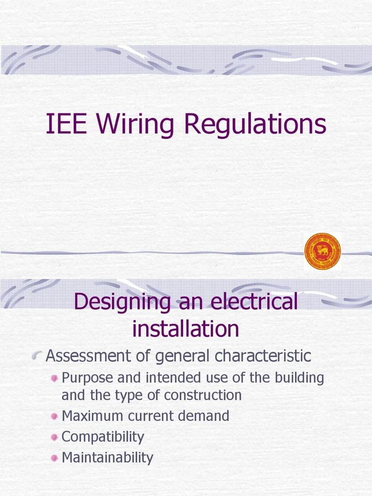 Iee Wiring Regulation Fuse Electrical