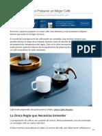 5. Guía Básica Cómo Preparar un Mejor Café