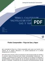 6. CALCULO DE VALVULAS DE CONTROL PARA GAS Y VAPOR