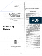 05072124 HALLIDAY - El Lenguaje Como Semiótica Social. CAP 1