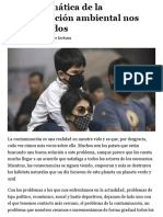 La problemática de la contaminación ambiental nos afecta a todos