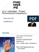UPS Topologies - Project Performance Comparisons~2010