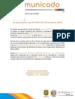 Comunicado 009 Primer Caso de Coronavirus en El Carmen de Viboral
