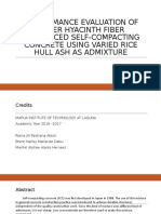 PERFORMANCE EVALUATION OF WATER HYACINTH FIBER REINFORCED SELF-COMPACTING