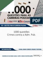 Érico Palazzo-1000 questões - Crimes contra a Administração Pública