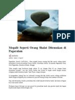 Megalit Seperti Orang Shalat Ditemukan Di Pagaralam