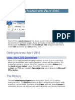 1.  Getting Started with Word 2010