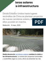 Las carreteras solares sacuden la infraestructura mundial