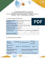 Guía de actividades y rubrica de evaluación - Fase 3 - Exploración instrumental