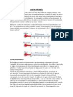 Termometria y Dilatación en sólidos