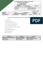Evaluación Octavo Bimestral