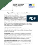 TIPOS DE LINEAS EN PLANOS ARQUITECTONICOS